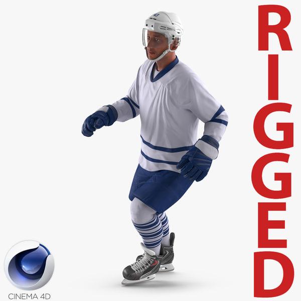 hockey player generic 4 3d model