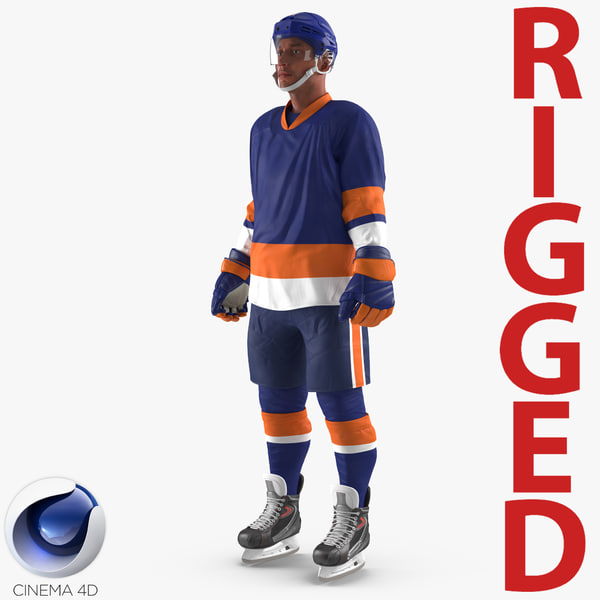 3d hockey player generic 5 model