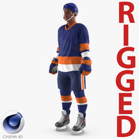 Hockey Player Generic 5 Rigged for Cinema 4D 3D Model