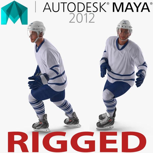 3d hockey player generic 4 model