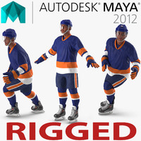Hockey Player Generic 5 Rigged per Maya Modello 3D