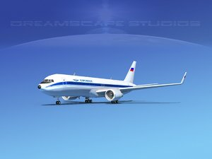 3d model airlines boeing 767 767-300