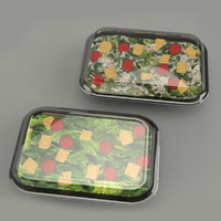 3d salad model