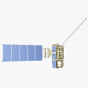 satellite goes r 3d model
