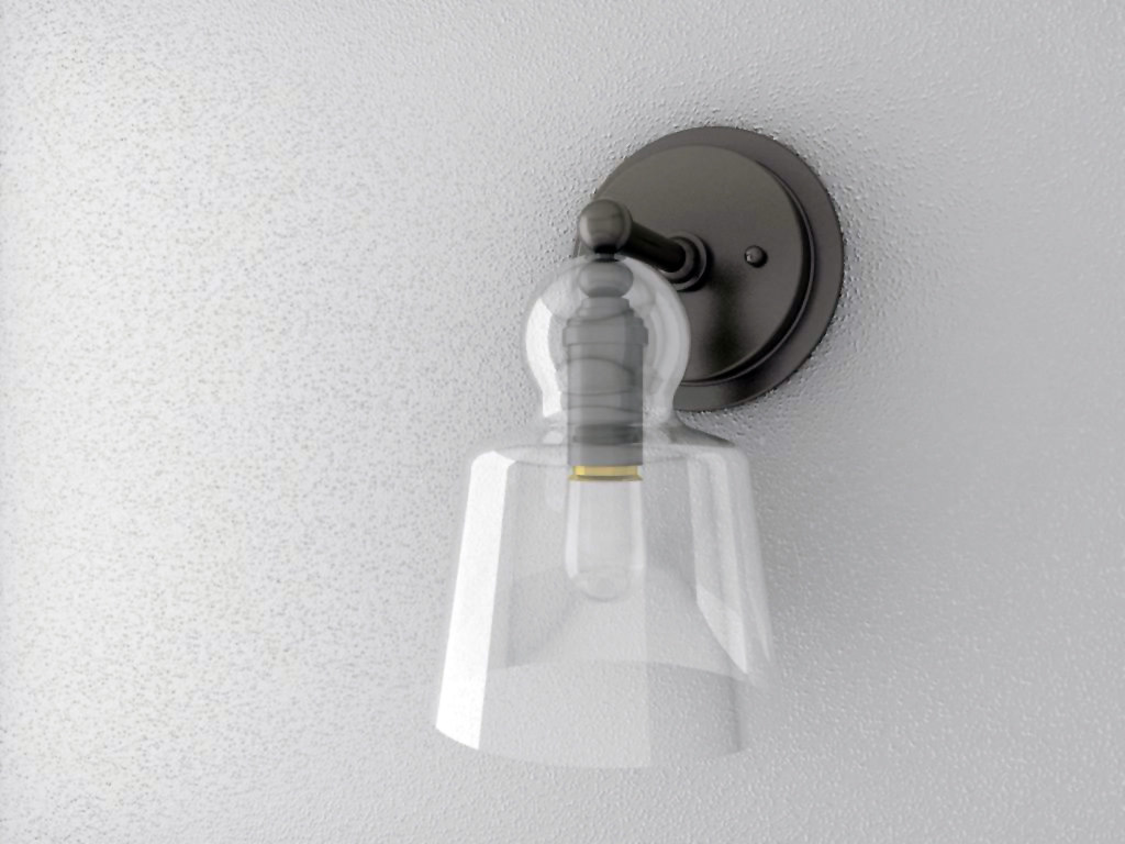 3d sconce pewter