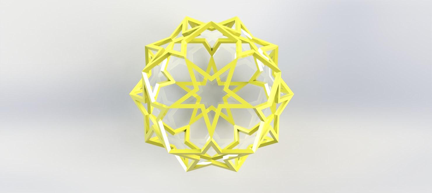 3d model christmas decoration star -
