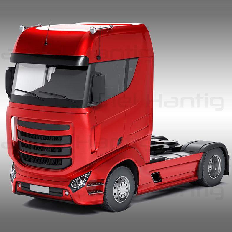 design generic truck trailer 3d model