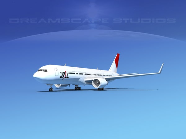airlines boeing 767 767-300 3d model