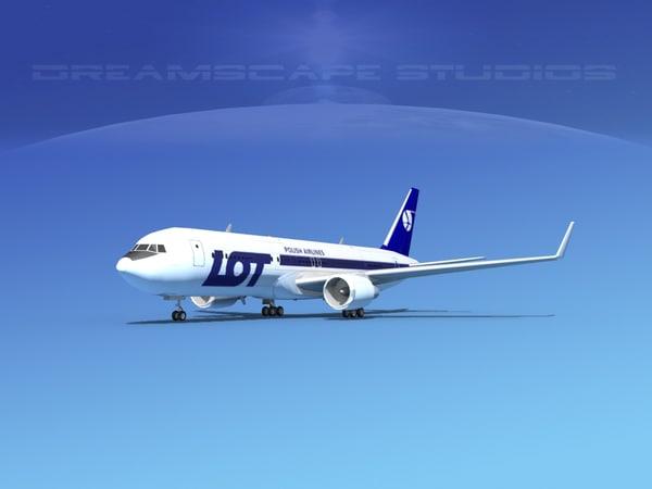 3d lwo airlines boeing 767 767-300