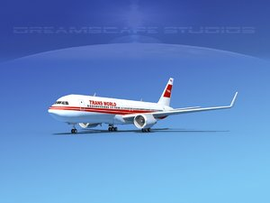 airlines boeing 767 world 3d model