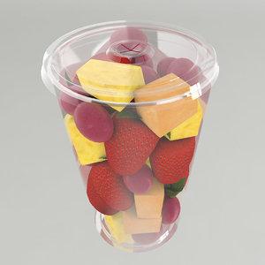 3d fruit cup