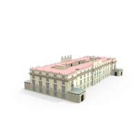 3d model liria palace madrid house