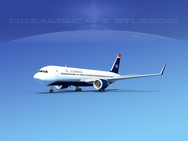3d dxf airlines boeing 767 767-300