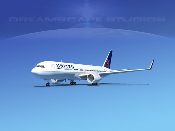 airlines boeing 767 767-300 3ds