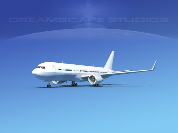 3d model of airlines boeing 767 767-300