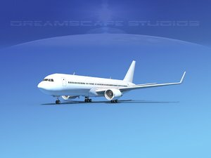 airlines boeing 767 767-300 3d max