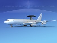 boeing e-3 sentry air force 3d dxf