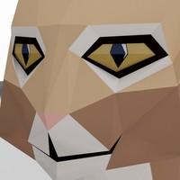 3d model cat bobcat