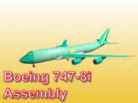 3d boeing 747-8i assembly
