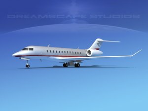 turbines bombardier global express 3d max