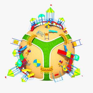 3d model of planet park