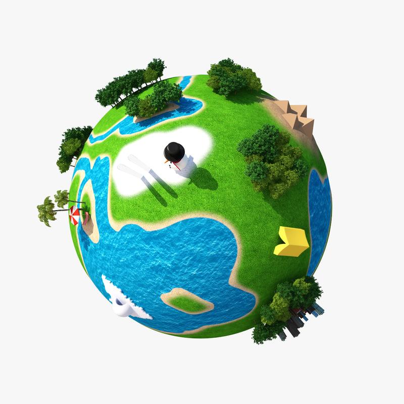 planet world 3d max