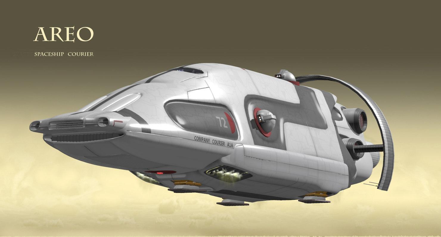 fighter transport 3d obj