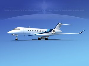 turbines bombardier global express 3d dxf