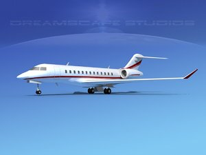 3d turbines bombardier global express model