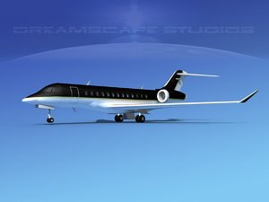 turbines bombardier global express 3d 3ds