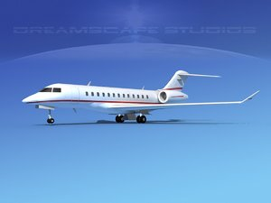 3d model turbines bombardier global express
