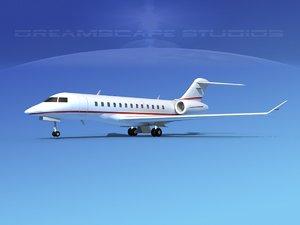 3d model turbines bombardier global express