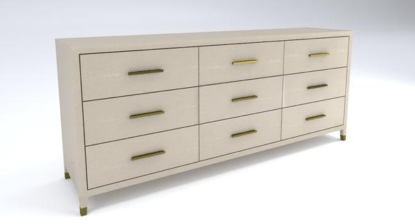 3d restoration hardware graydon dresser