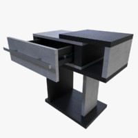 3d night stand nightstand model
