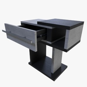 3d night stand nightstand