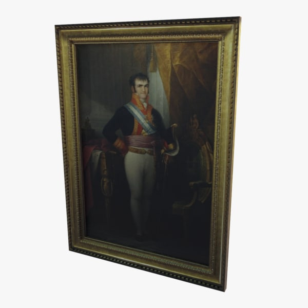 3d model old oil painting