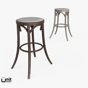 3d madeleine stool restoration