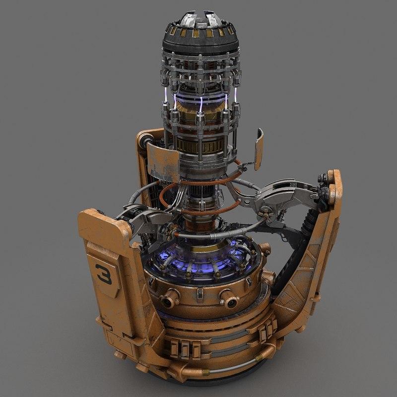 sci-fi energy generator 3d max