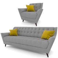 fitzgerald sofa 3d model