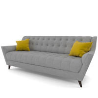 3d model fitzgerald sofa