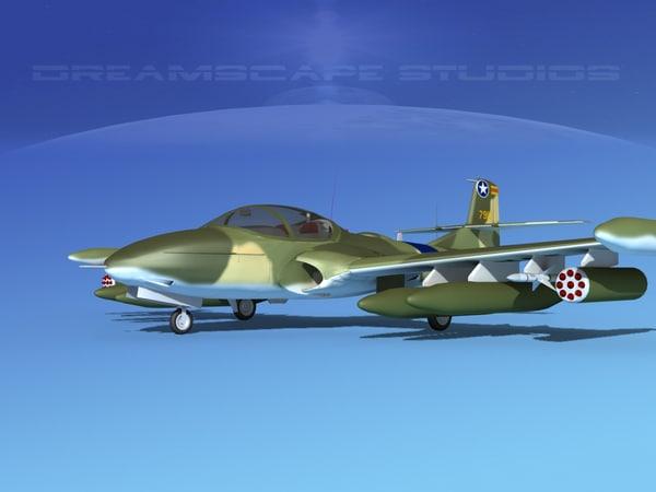 3d cessna a-37 dragonfly vietnam model