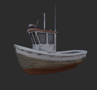 3d fbx small fishing boat