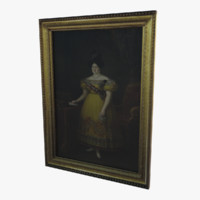 old oil painting 3d model