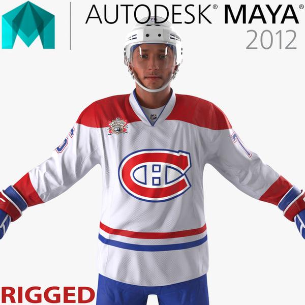 ma hockey player canadiens rigged