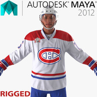 ma hockey player canadiens rigged