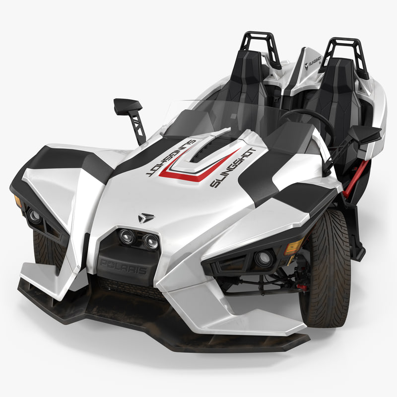 polaris slingshot trike white 3d model. Black Bedroom Furniture Sets. Home Design Ideas