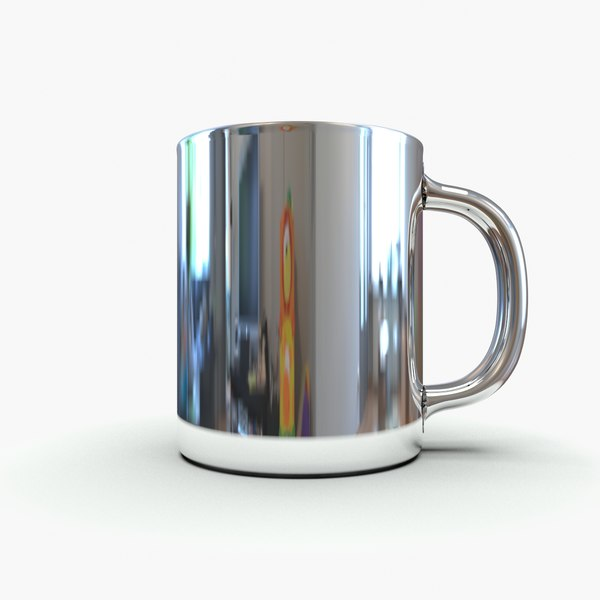 stainless steel thermal mug 3d model