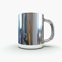 stainless steel thermal mug 3d model