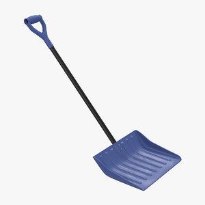 snow shovel 3d obj