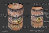 free fbx model oil drum